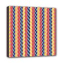 Colorful Chevron Retro Pattern Mini Canvas 8  x 8  View1