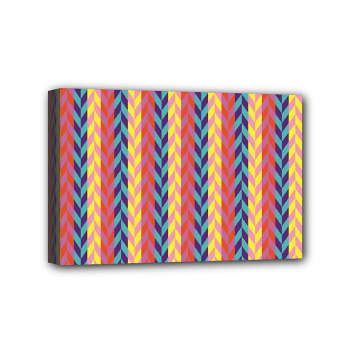 Colorful Chevron Retro Pattern Mini Canvas 6  x 4