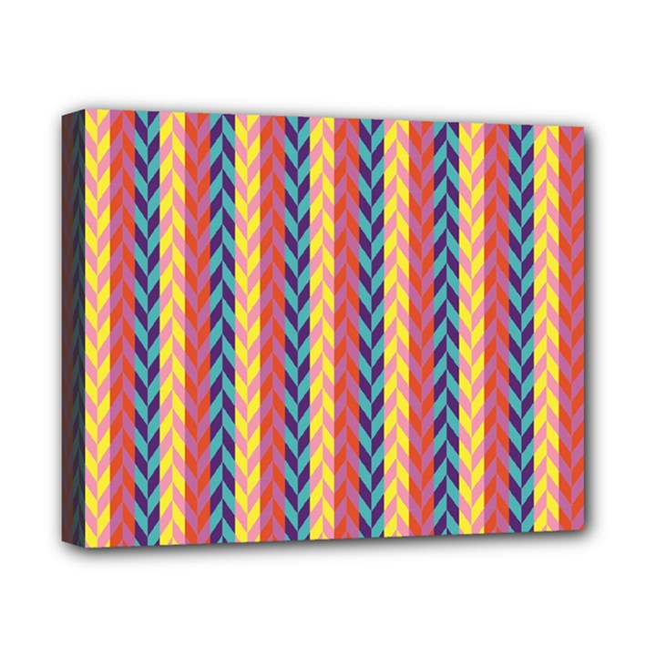 Colorful Chevron Retro Pattern Canvas 10  x 8
