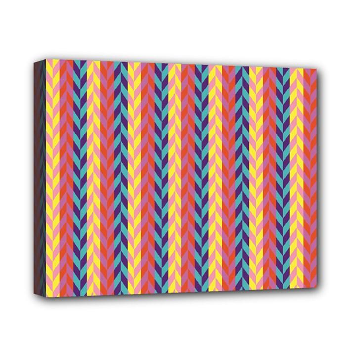 Colorful Chevron Retro Pattern Canvas 10  x 8