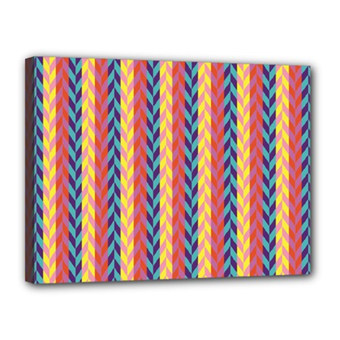 Colorful Chevron Retro Pattern Canvas 16  X 12