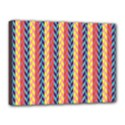 Colorful Chevron Retro Pattern Canvas 16  x 12  View1