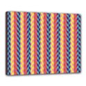 Colorful Chevron Retro Pattern Canvas 20  x 16  View1