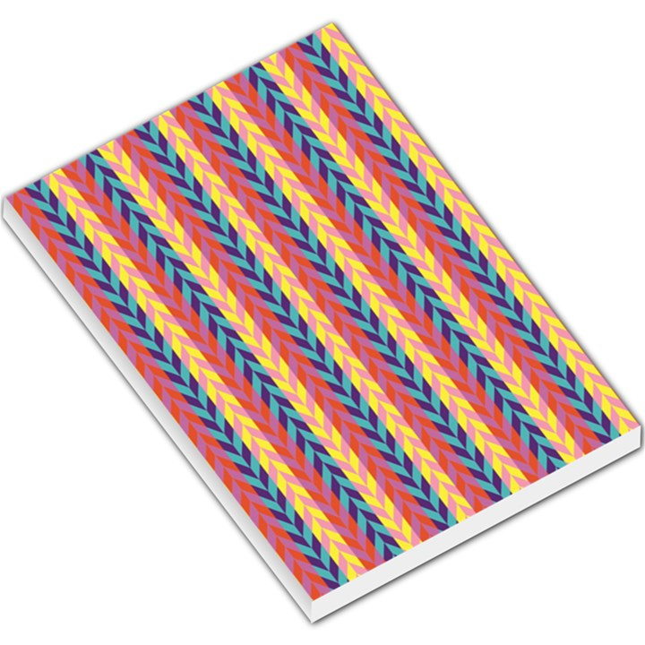 Colorful Chevron Retro Pattern Large Memo Pads