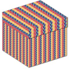 Colorful Chevron Retro Pattern Storage Stool 12