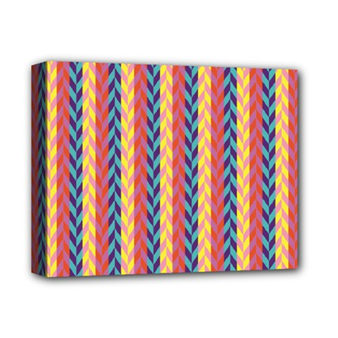 Colorful Chevron Retro Pattern Deluxe Canvas 14  x 11