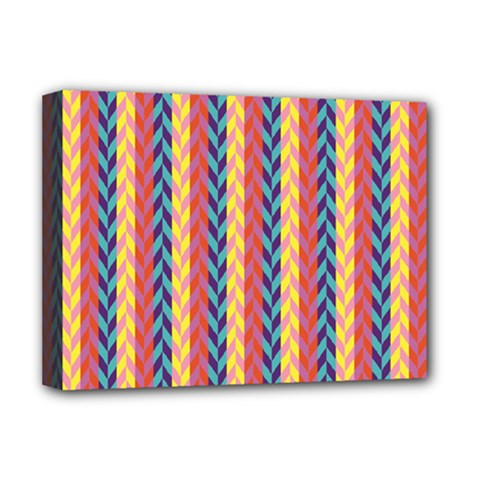 Colorful Chevron Retro Pattern Deluxe Canvas 16  x 12