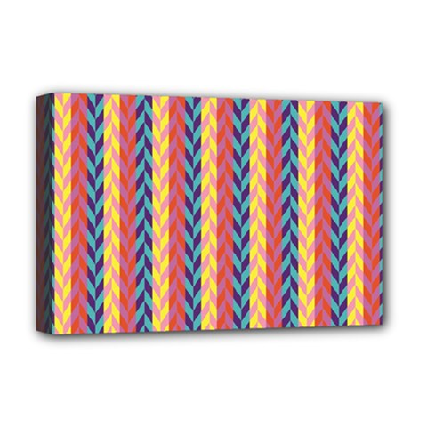 Colorful Chevron Retro Pattern Deluxe Canvas 18  X 12