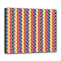 Colorful Chevron Retro Pattern Deluxe Canvas 24  x 20   View1