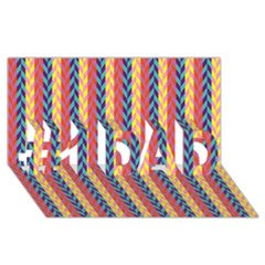 Colorful Chevron Retro Pattern #1 Dad 3d Greeting Card (8x4)