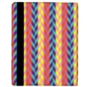 Colorful Chevron Retro Pattern Apple iPad 2 Flip Case View3