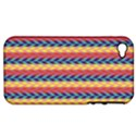 Colorful Chevron Retro Pattern Apple iPhone 4/4S Hardshell Case (PC+Silicone) View1