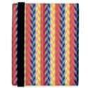 Colorful Chevron Retro Pattern Samsung Galaxy Tab 8.9  P7300 Flip Case View3