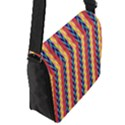 Colorful Chevron Retro Pattern Flap Messenger Bag (S) View2