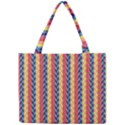 Colorful Chevron Retro Pattern Mini Tote Bag View1