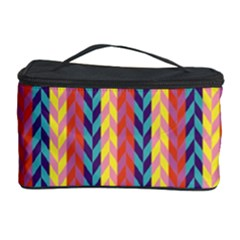 Colorful Chevron Retro Pattern Cosmetic Storage Case