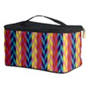 Colorful Chevron Retro Pattern Cosmetic Storage Case View3