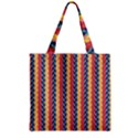 Colorful Chevron Retro Pattern Zipper Grocery Tote Bag View2