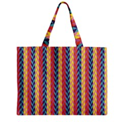 Colorful Chevron Retro Pattern Zipper Mini Tote Bag