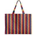 Colorful Chevron Retro Pattern Zipper Mini Tote Bag View1