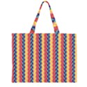 Colorful Chevron Retro Pattern Large Tote Bag View1