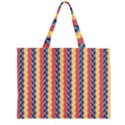 Colorful Chevron Retro Pattern Large Tote Bag View2