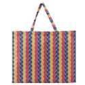 Colorful Chevron Retro Pattern Zipper Large Tote Bag View1