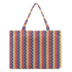 Colorful Chevron Retro Pattern Medium Tote Bag