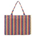 Colorful Chevron Retro Pattern Medium Zipper Tote Bag View1
