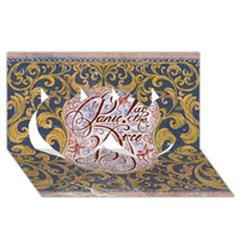 Panic! At The Disco Twin Hearts 3d Greeting Card (8x4)