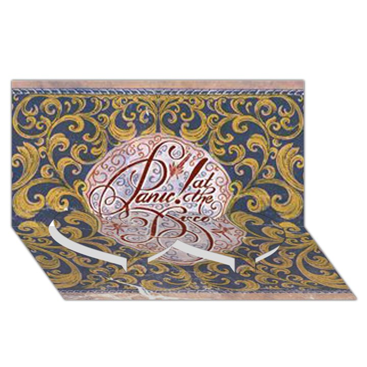 Panic! At The Disco Twin Heart Bottom 3D Greeting Card (8x4)