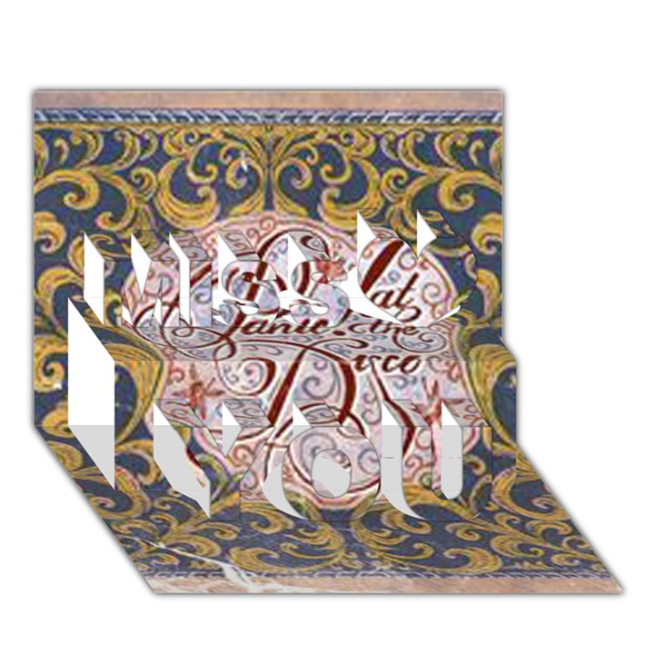 Panic! At The Disco Miss You 3D Greeting Card (7x5)