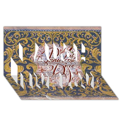 Panic! At The Disco Laugh Live Love 3D Greeting Card (8x4)
