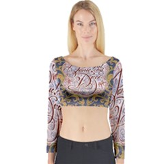 Panic! At The Disco Long Sleeve Crop Top