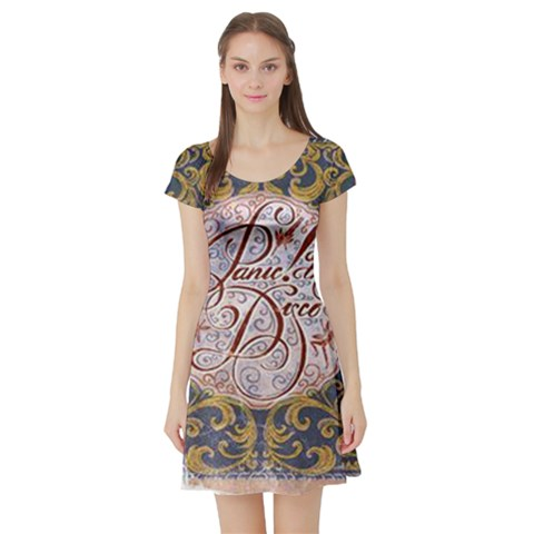 Panic! At The Disco Short Sleeve Skater Dress