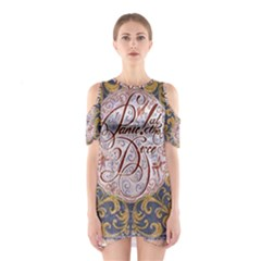 Panic! At The Disco Cutout Shoulder Dress