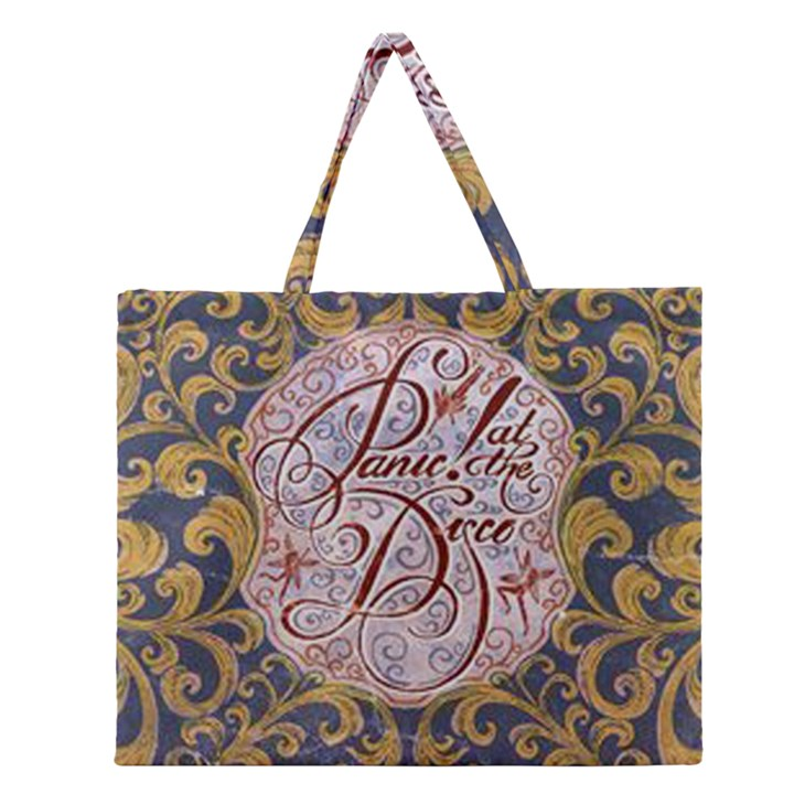 Panic! At The Disco Zipper Large Tote Bag