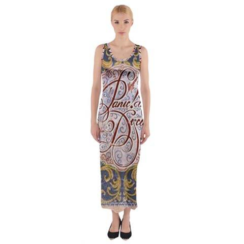 Panic! At The Disco Fitted Maxi Dress
