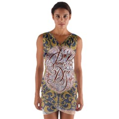 Panic! At The Disco Wrap Front Bodycon Dress