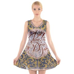 Panic! At The Disco V Neck Sleeveless Skater Dress