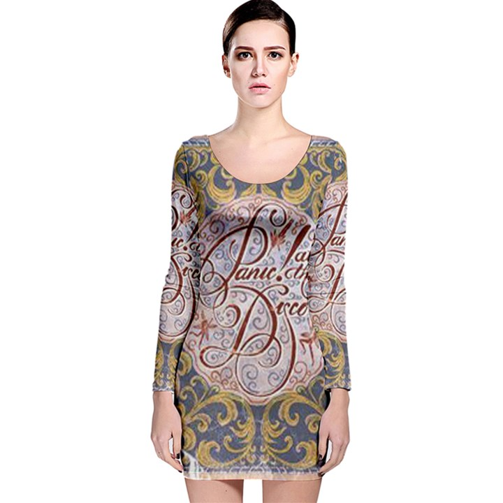 Panic! At The Disco Long Sleeve Velvet Bodycon Dress