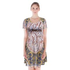 Panic! At The Disco Short Sleeve V Neck Flare Dress