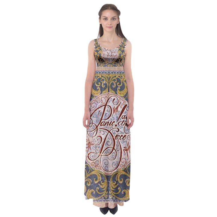 Panic! At The Disco Empire Waist Maxi Dress