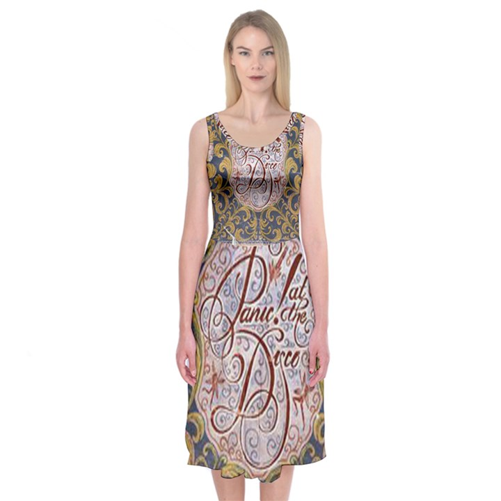 Panic! At The Disco Midi Sleeveless Dress