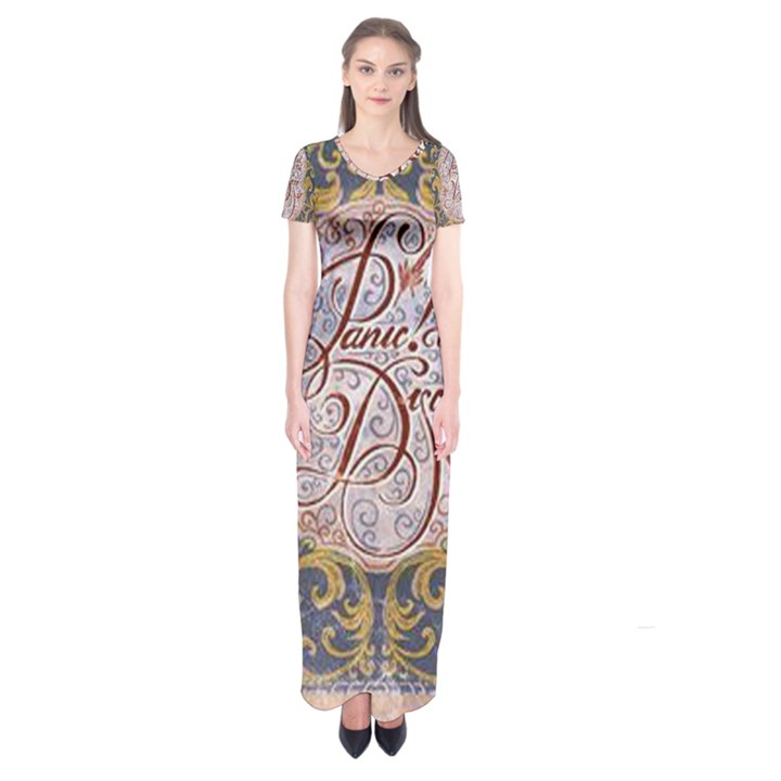 Panic! At The Disco Short Sleeve Maxi Dress
