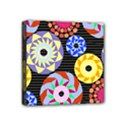 Colorful Retro Circular Pattern Mini Canvas 4  x 4  View1