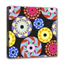 Colorful Retro Circular Pattern Mini Canvas 8  x 8  View1