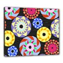 Colorful Retro Circular Pattern Canvas 24  x 20  View1