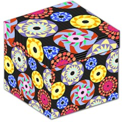 Colorful Retro Circular Pattern Storage Stool 12