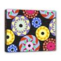 Colorful Retro Circular Pattern Deluxe Canvas 20  x 16   View1